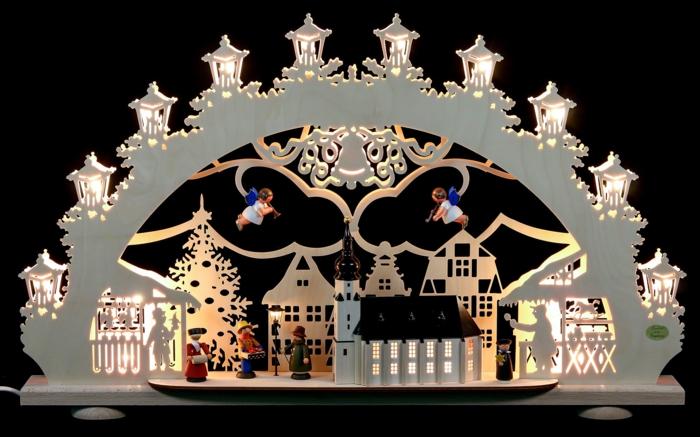 schwibbögen mit kerzen fensterdekoration weihnachten