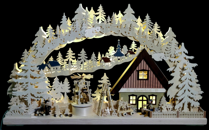 schwibbögen und lichterbögen fensterdekoration weihnachten deko ideen