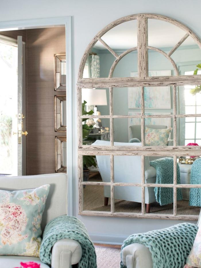 Wohnzimmer einrichtungsideen shabby  Shabby Chic Wohnzimmer - 66 romantische Einrichtungen