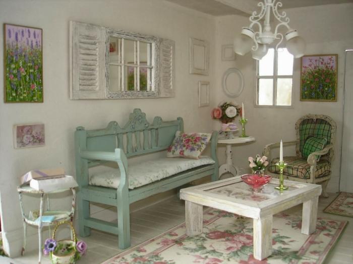 shabby chic wohnzimmer ideen einrichtung pastellfarbene möbel