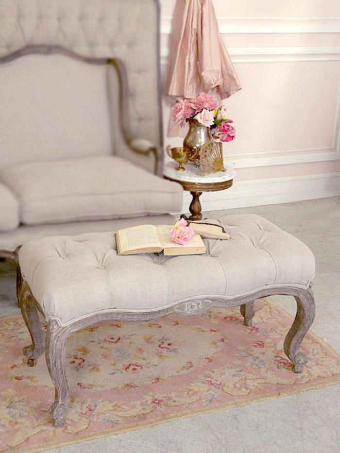shabby chic ideen möbel neobarok sofa beistelltisch