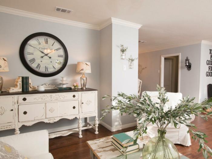shabby chic wohnzimmer 66 romantische einrichtungen. Black Bedroom Furniture Sets. Home Design Ideas