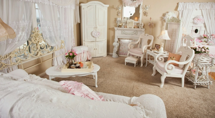nähecke im wohnzimmer:wohnzimmer romantisch gestalten : Shabby Chic Wohnzimmer haben