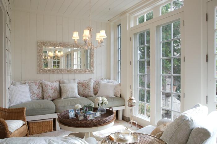 shabby chic wohnzimmer - 66 romantische einrichtungen, Wohnzimmer