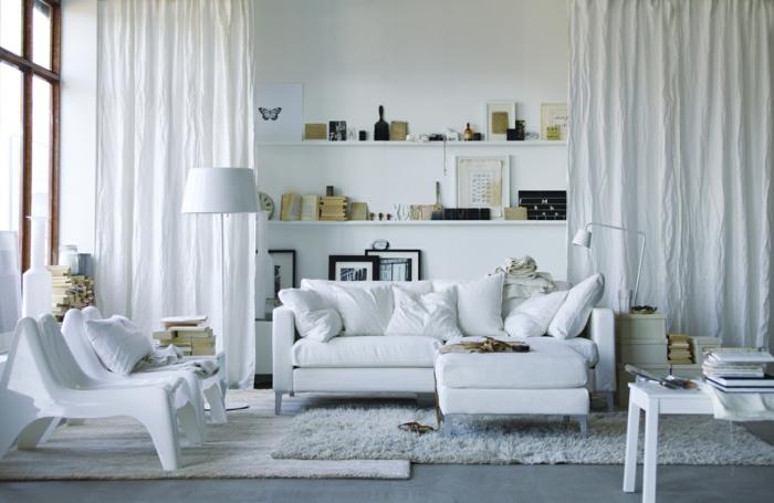 sofa kaufen skandinavisches sofa weiß teppich wohnzimmer einrichten