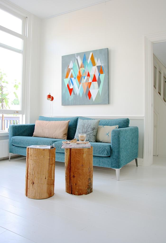 Sofa Kaufen Wohnzimmer Einrichten Rustikale Beistelltische