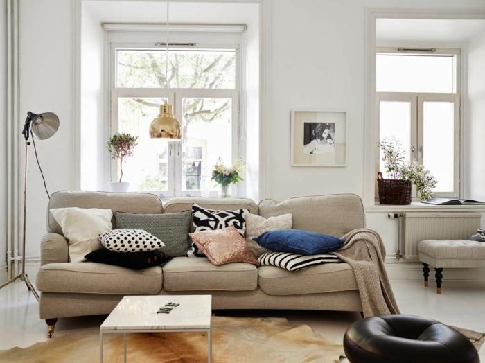 Beautiful Wohnzimmer Skandinavischer Stil Sofa Kaufen   Ein Skandinavisches Sofa Fürs  Wohnzimmer Auswählen Great Pictures