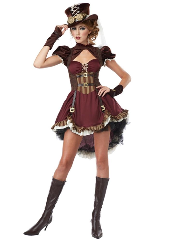 steampunk kleidung damenkostüm