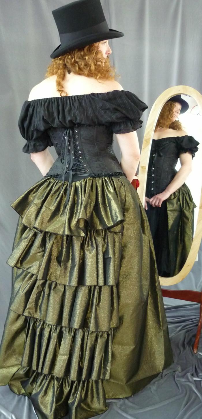 steampunk kleidung damenmode kleid