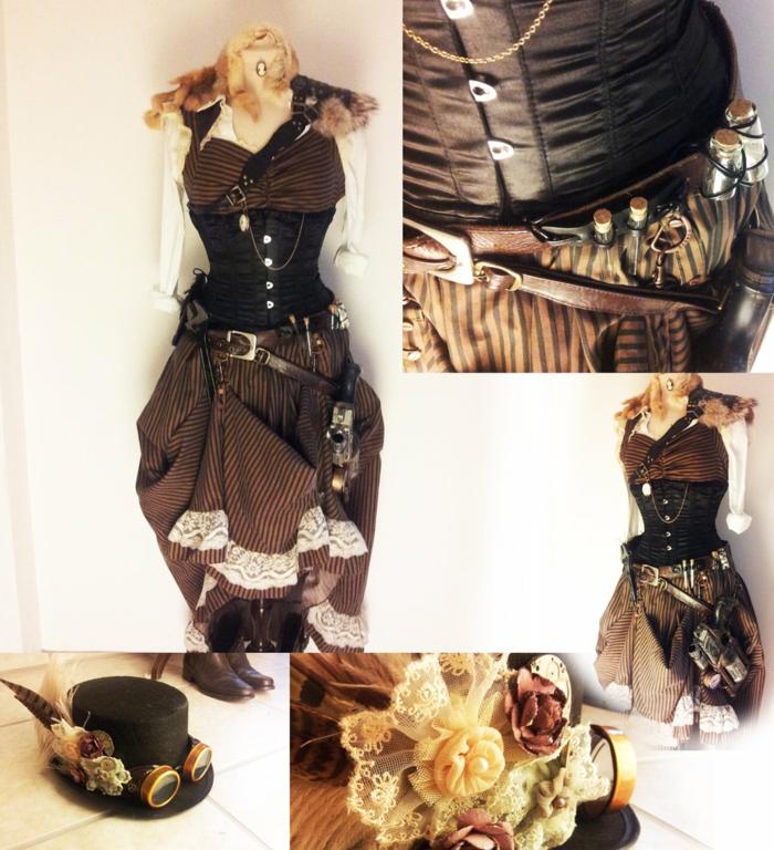 steampunk kleidung damenmode kleidungstücke accessoire