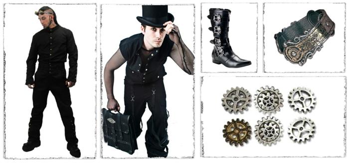 steampunk kleidung männermode accessoires