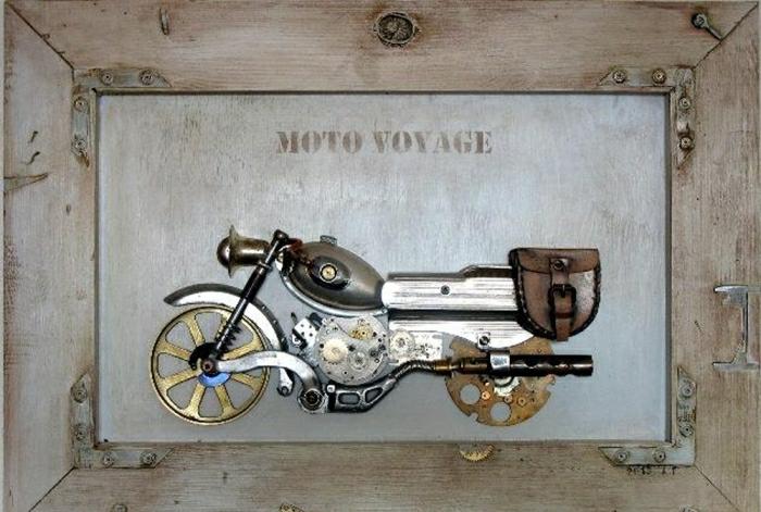 steampunk kunst motorrad kreativ