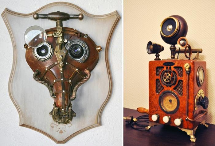steampunk kunst retro geräte