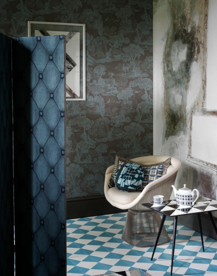 Tapeten Ideen Ausgefallene Wanddeko In Neutralen Farben 71 Wohnzimmer  Tapeten Ideen, Wie Sie Die Wohnzimmerwände Beleben ...