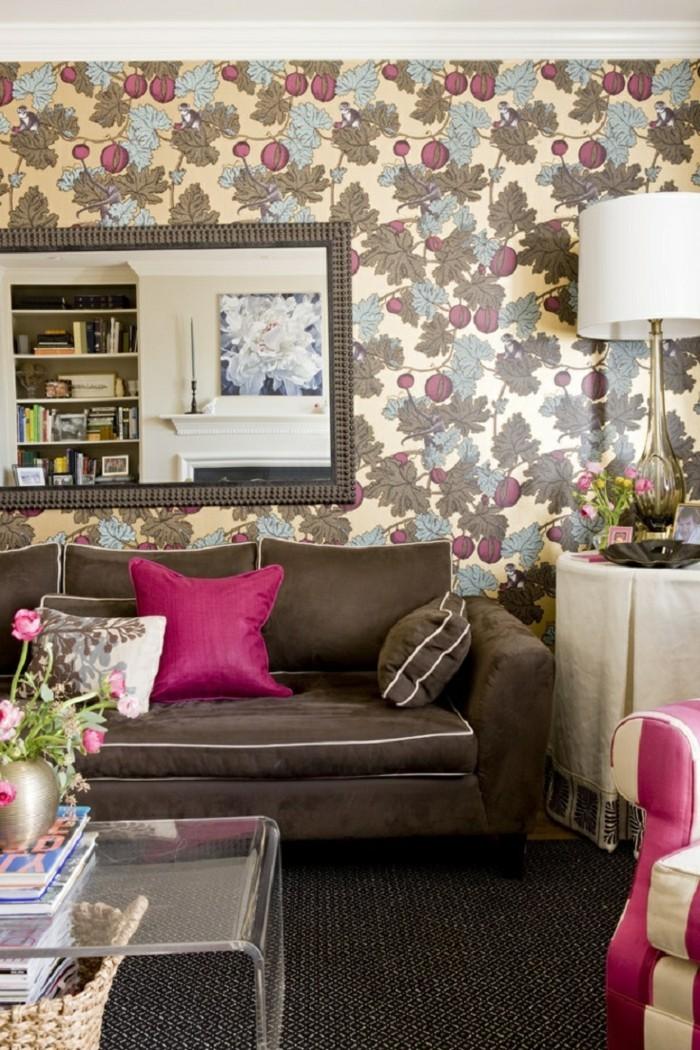Tapeten Ideen Muster Die An Den Frühling Erinnern 71 Wohnzimmer Tapeten  Ideen, Wie Sie Die Wohnzimmerwände Beleben ...