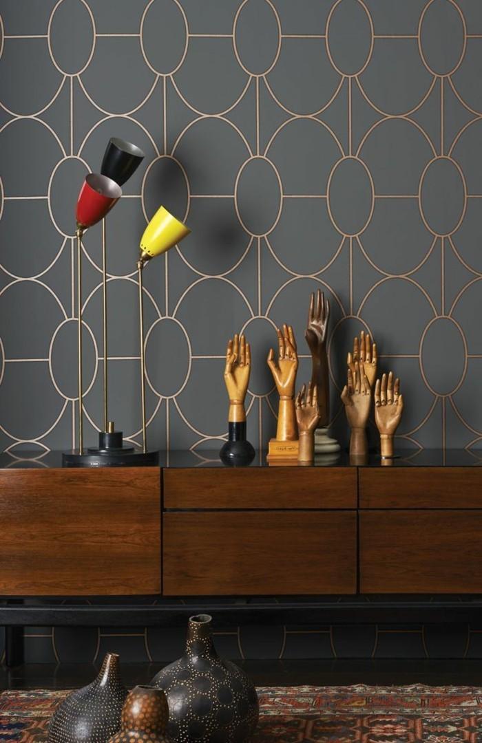 71 Wohnzimmer Tapeten Ideen, Wie Sie Die Wohnzimmerwände Beleben Retro Tapete Wohnzimmer