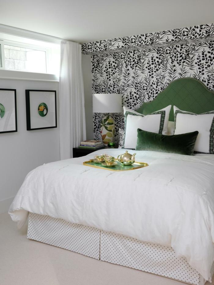 tapeten ideen schlafzimmerwände gestalten weiße wandfarbe