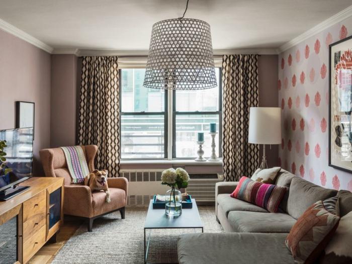wohnzimmer tapeten ideen wie sie die wohnzimmerw nde beleben. Black Bedroom Furniture Sets. Home Design Ideas