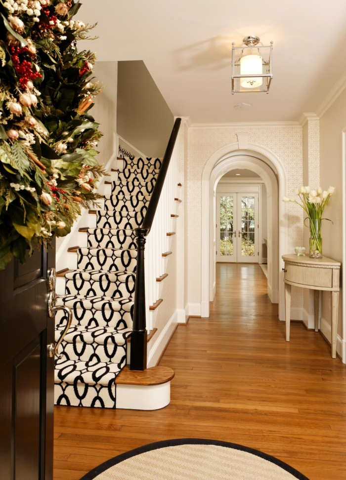 teppich design flur treppenhaus elegant