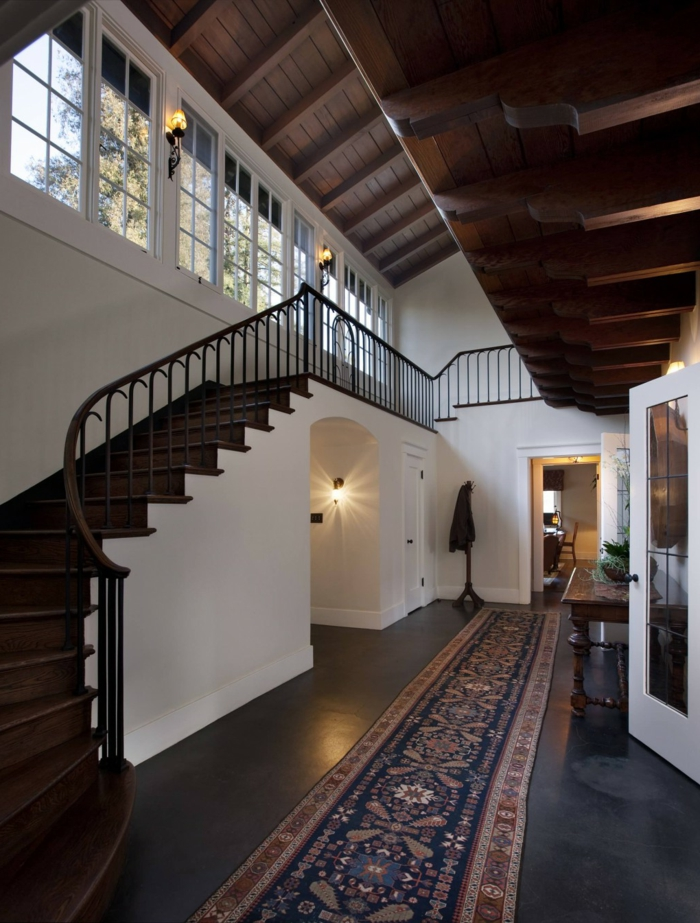 teppich design teppichläufer flur gestalten treppenhaus