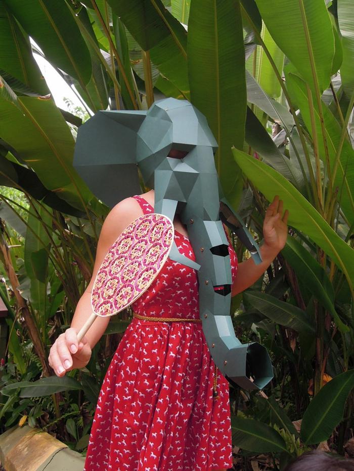 tiermasken basteln elefanten halloween maske von steve wintercroft