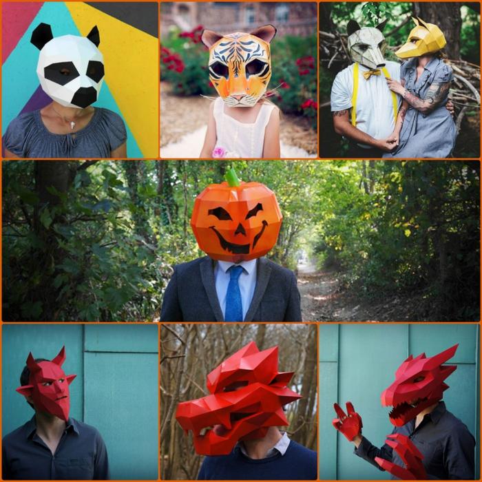 tiermasken basteln halloween masken von steve wintercroft