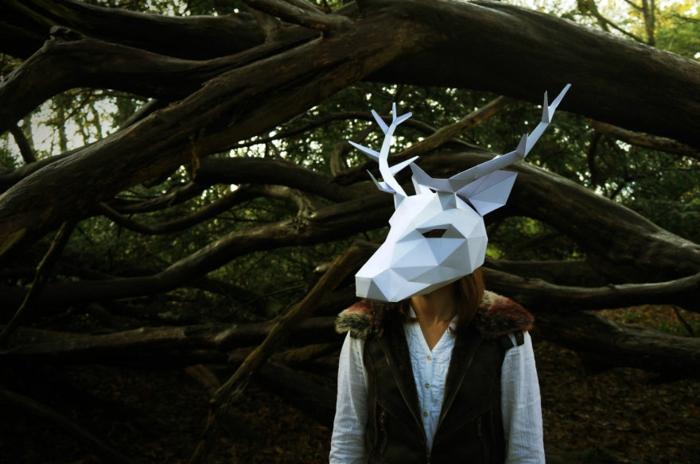 tiermasken basteln hirsch halloween maske von steve wintercroft