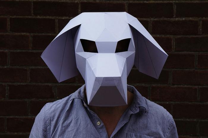 tiermasken basteln hund halloween maske von steve wintercroft