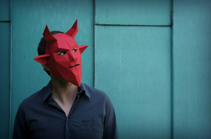 tiermasken basteln teufel halloween maske von steve wintercroft