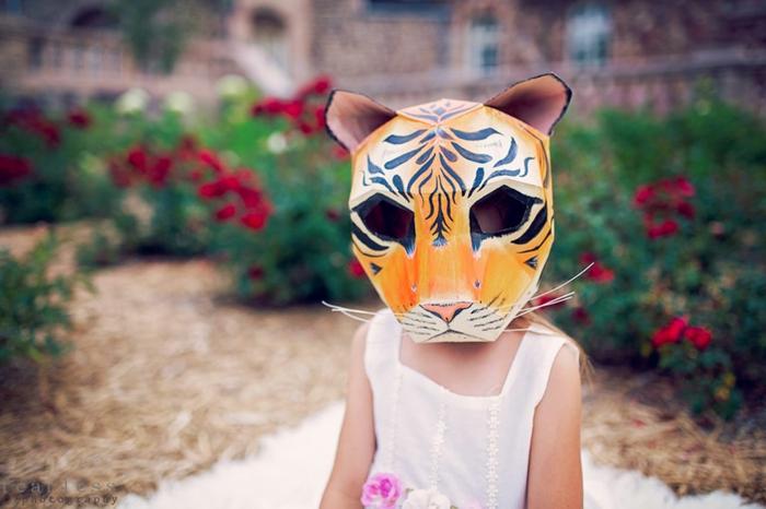 tiermasken basteln tiger halloween maske von steve wintercroft