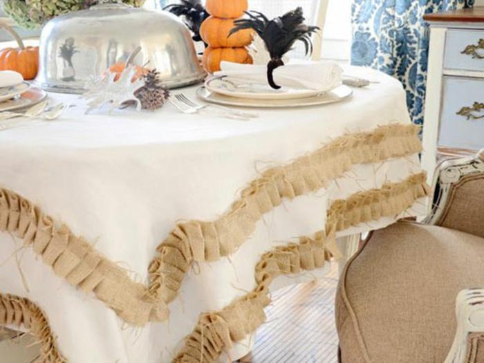 tischdecke nähen passende stoffe und muster deko rüschen