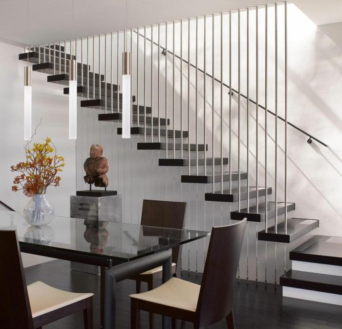 schicke treppengeländer verschönern das moderne treppenhaus, Innenarchitektur ideen