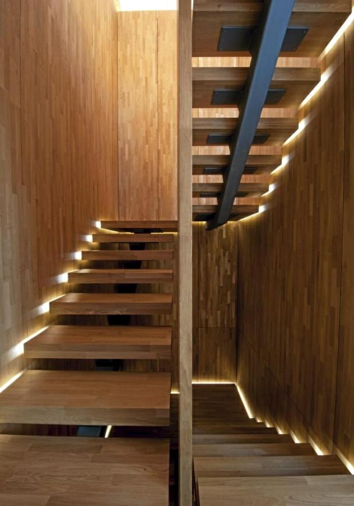beleuchtung treppenhaus l sst die treppe unglaublich sch n erscheinen. Black Bedroom Furniture Sets. Home Design Ideas