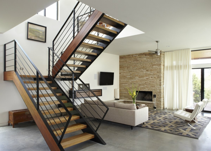offene treppe wohnzimmer | ziakia ? timeschool.info - Offene Treppe Im Wohnzimmer