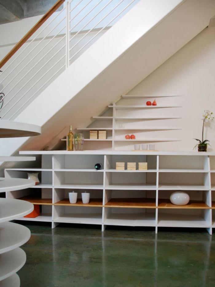 schrank unter treppe und andere lösungen, wie sie für mehr ... - Wohnideen Minimalistische Treppe