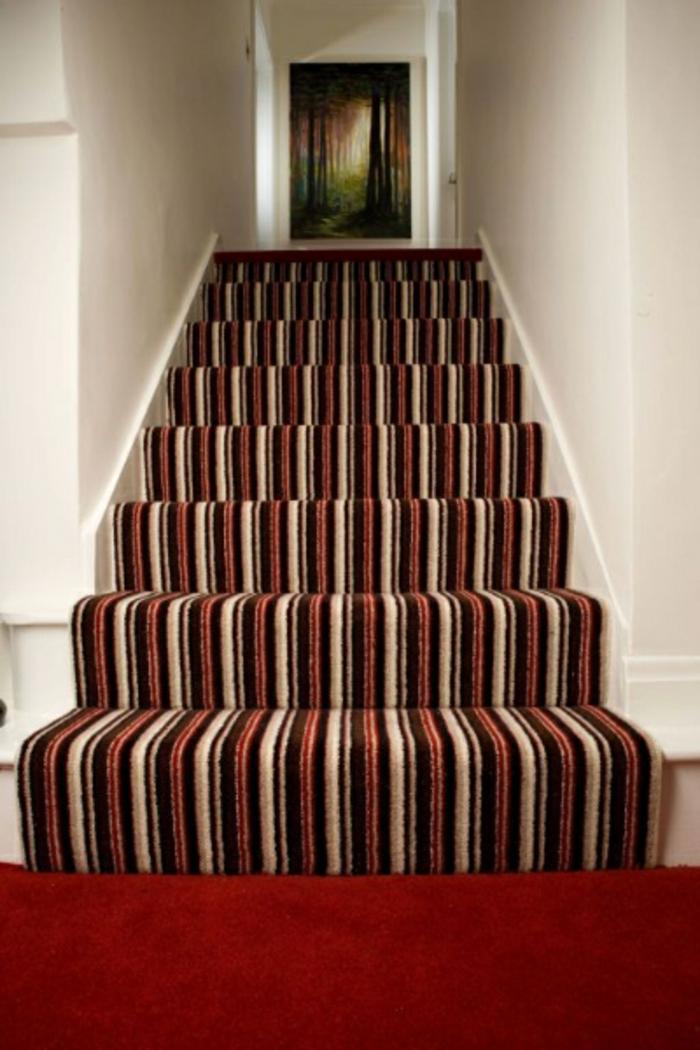 treppenteppich streifenteppich roter teppich
