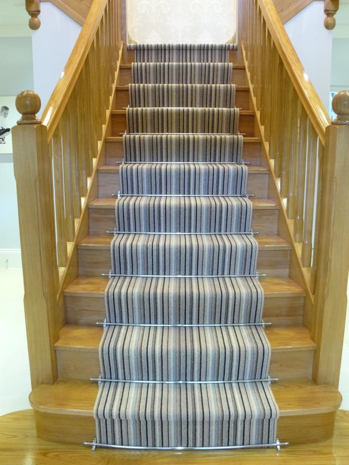 Teppichläufer Treppe teppich für treppen die treppen in ihrem zuhause verkleiden