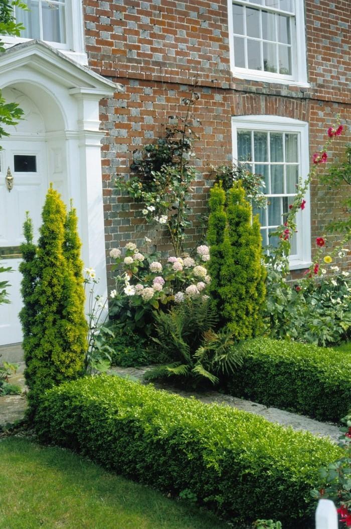 vorgarten gestaltung sträucher verschönern den vorgarten