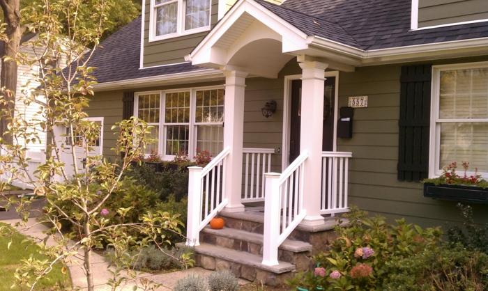 vorgartengestaltung treppen pflanzen außenbereich gestalten ideen