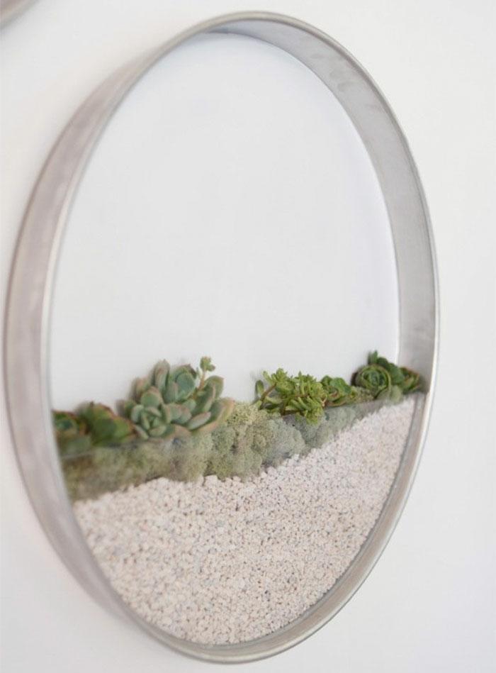 paredes moldam recipientes redondos de alumínio para plantas