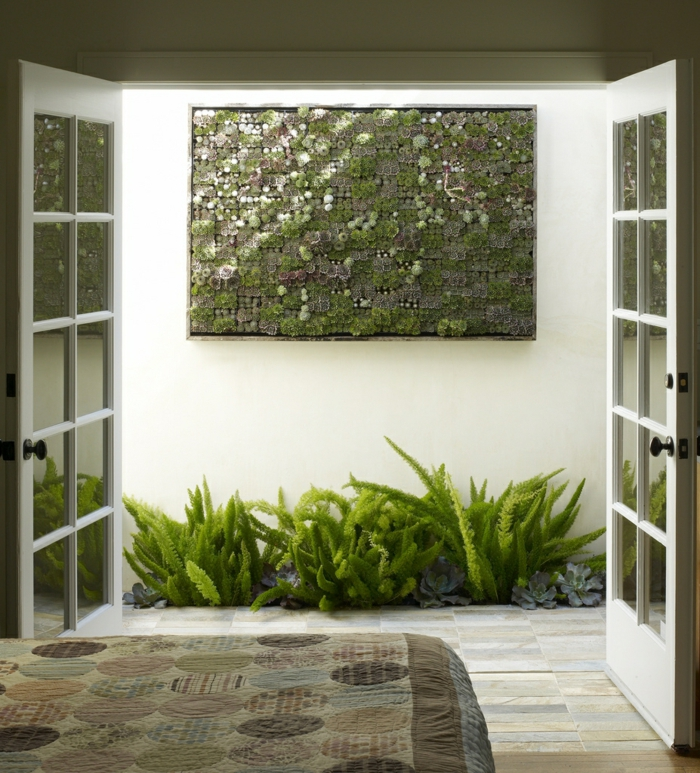 paredes design parede arte suculentas