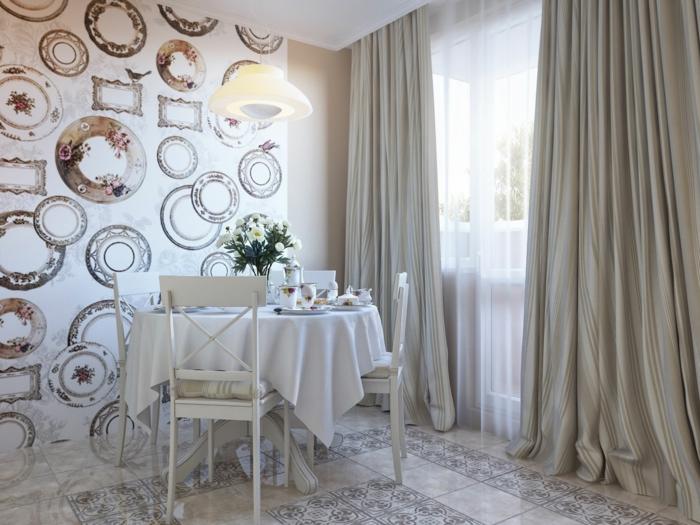 Wandgestaltung Esszimmer Ideen ~ Raum Haus Mit Interessanten Ideen