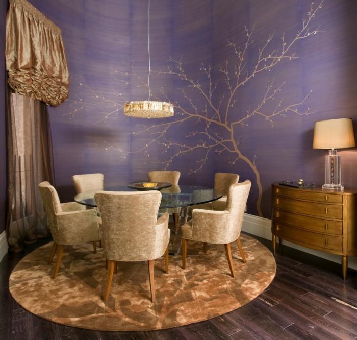 wandgestaltung esszimmer - inspirierende ideen, wie sie die ... - Esszimmer Wand Bilder