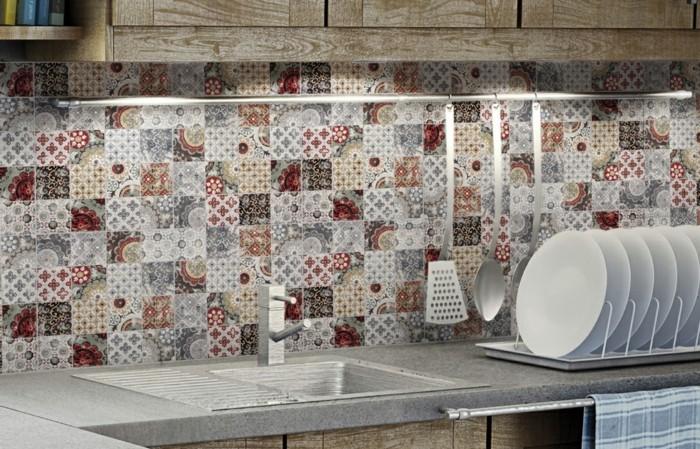 wandgestaltung küche ausgefallene küchenfliesen für die küchenrückwand