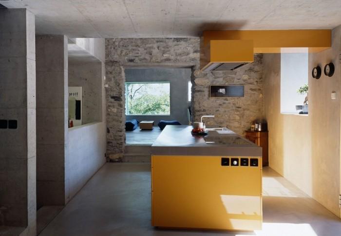 wandgestaltung küche die ganz natürlich aussieht