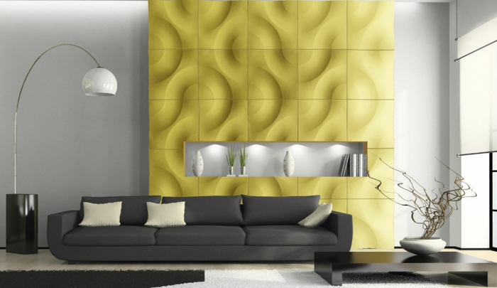 Wandpaneele eine trendige tendenz bei der wandgestaltung - 3d wandpaneele wohnzimmer ...