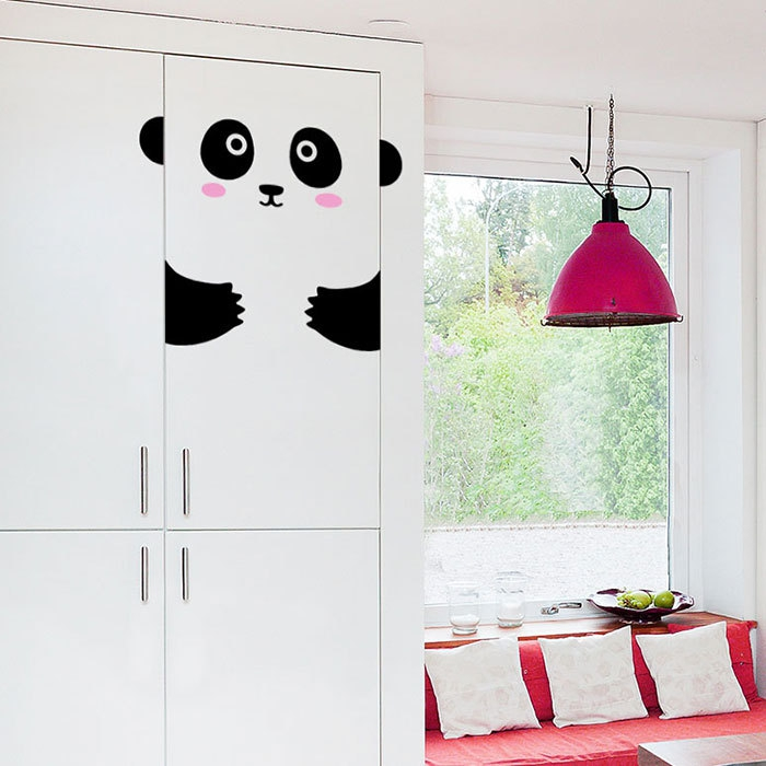 wandsticker kinderzimmer panda schranktür made of sundays