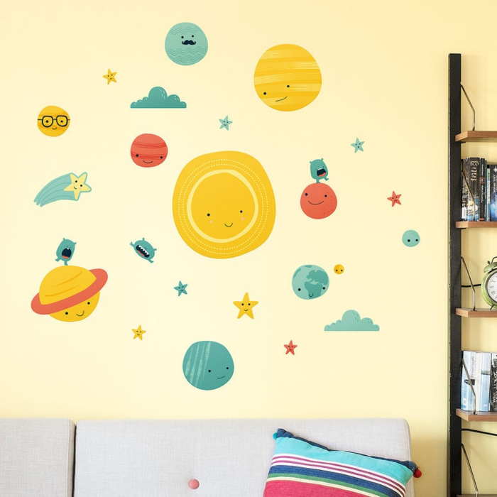 wandsticker kinderzimmer sonnensystem made of sundays kreative wanddekoration