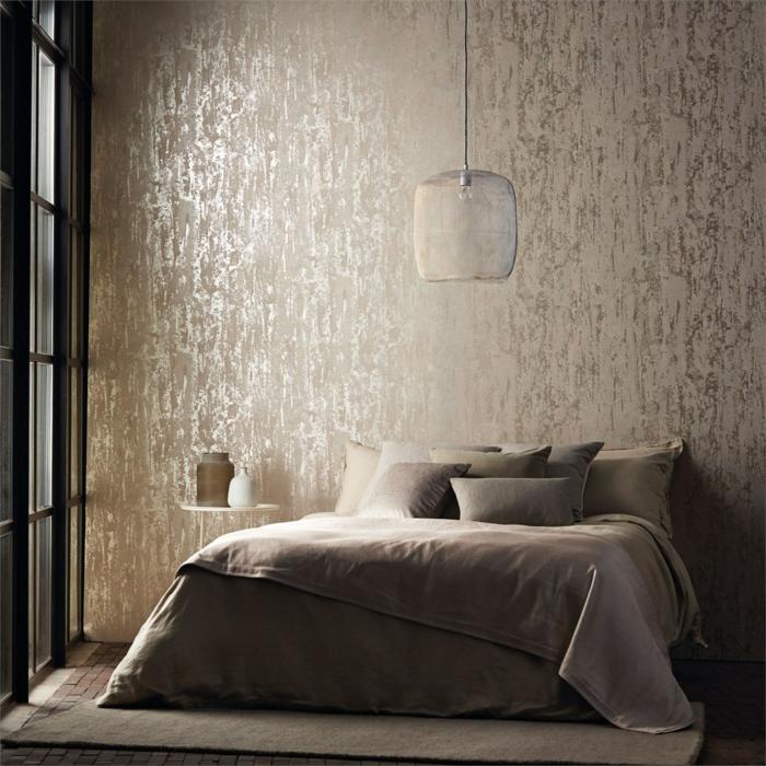 Wandgestaltung Schlafzimmer Mit Tapeten : Tapeten mit Muster
