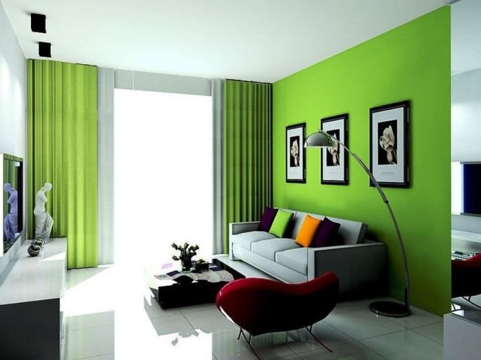 grünes wohnzimmer ideen:Grünes wohnzimmer ideen : Wohnidee fürs Wohnzimmer – Richten Sie